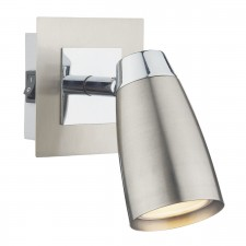 Loft 1 Light Low Energy Spot Switch Satin Chrome/ Polished Chrome