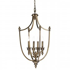Lombard Ceiling Pendant - 4 Light, Antique Brass