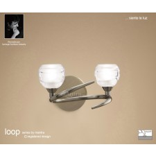 Loop Switched Wall Light 2 Light Antique Brass
