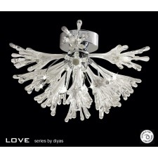 Diyas Love Ceiling 9 Light Polished Chrome Small