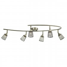 Lowell 6 Light Semi Flush Antique Brass With Mesh Shade