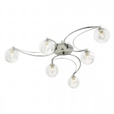 Lozanne 6 Light Semi Flush Polished Chrome And Satin