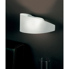 Detroit Wall Lamp - 1 Light, Matt Nickel, Satin Crystal Glass (Left) and (Right)