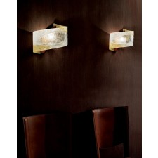 Atene Curved Wall Lamp - 1 Light, Copper Red, Glass