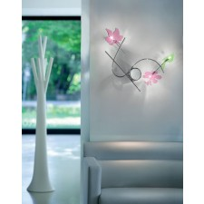 Barcelona Fantasty Wall Light - 3 Light, Polished Chrome, Coloured Glass