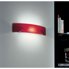 Torino Flush Wall Lamp - 1 Light, Red (Available with different lampshades)