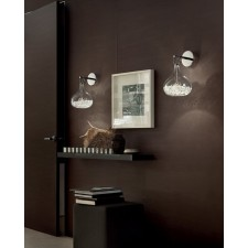 Graal Wall Light - Polished Chrome, Crystal Glass