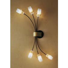 Mosca Flush Wall Lamp/Ceiling Light - 6 Light, Copper Red