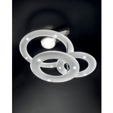 Aragorn LED Ceiling Light - Nickel, Opaque White