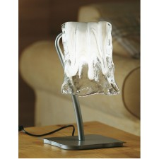 Murano Table Lamp - Grey Aluminium, White Alabaster