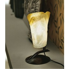 Atene Table Lamp - 1 Light, Anthracite, Amber Glass