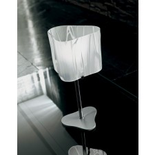 Venezia Table Lamp - 1 Light, Polished Chrome, White Glass