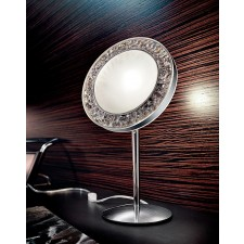 Male Table Lamp - Polished Chrome, Crystal Glass