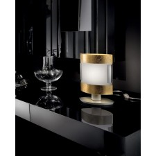 New York Table Lamp (Gold) - 1 Light, Aluminium