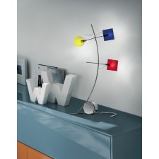 Barcelona Table Lamp - 3 Light, Polished Chrome, Coloured Glass