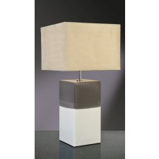Luis Collection LUI/ALBA CREAM Alba Cream/Grey Table Lamp