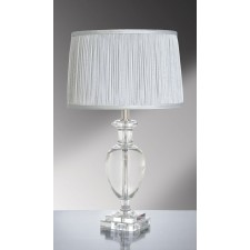 Luis Collection LUI/ANTONIA Antonia Clear Crystal Temple Jar Table Lamp