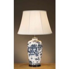 Luis Collection LUI/BLUE TRAD WP Blue Willow Pattern Traditional Lamp