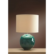 Luis Collection LUI/GREEN GLOBE Blue Globe Table Lamp