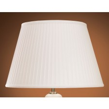 Luis Collection LUI/LS1004 Ivory 36cm Cotton Fine Pleat Shade