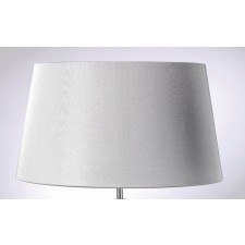 Luis Collection LUI/LS1019 Silver 43cm Shade With Silver Lining