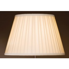 Luis Collection LUI/LS1060 Ivory 36cm Round Box Pleat Shade