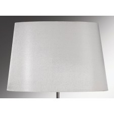 Luis Collection LUI/LS1113 Silver 39cm Tapered Oval Shade W/Silver Lining