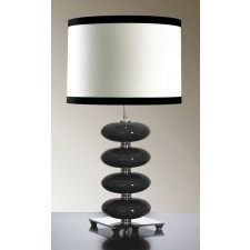 Luis Collection LUI/ONYX BLACK Onyx Black Table Lamp