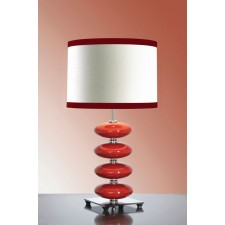 Luis Collection LUI/ONYX RED Onyx Red Table Lamp