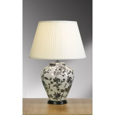 Luis Collection LUI/PEONIES TRAD Peonies Gourd Table Lamp