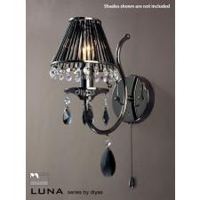Diyas Luna Crystal Wall 1 Light Black Chrome