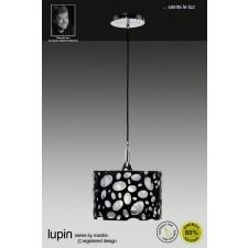 Lupin Pendant 1 Light Polished Chrome/Black/White