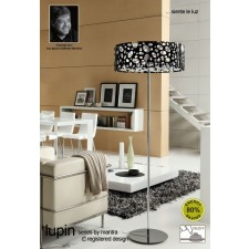 Lupin Floor Lamp 4 Light Polished Chrome/Black/White