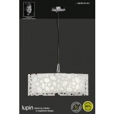 Lupin Pendant 4 Light Polished Chrome/White