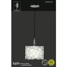 Lupin Pendant 1 Light Polished Chrome/White