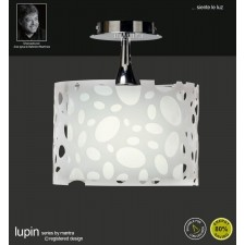 Lupin Semi Ceiling 1 Light Polished Chrome/White