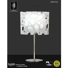 Lupin Table Lamp 1 Light Polished Chrome/White