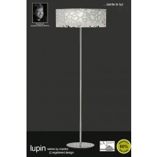 Lupin Floor Lamp 4 Light Polished Chrome/White