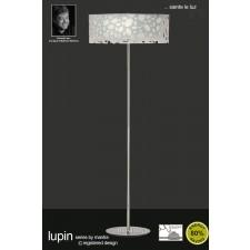 Lupin Floor Lamp 4 Light Polished Chrome/White