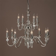 Interiors1900 Polina Nickel 12-Light Chandelier