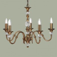 Interiors1900 Polina Brass 5-Light Chandelier