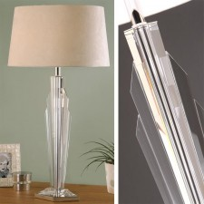 Interiors1900 Gatsby Table Lamp With Beige Shade