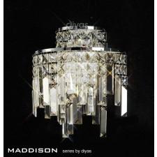 Diyas Maddison Wall Lamp 2 Light Polished Chrome/Crystal