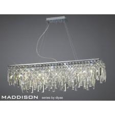 Diyas Maddison Pendant Rectangular 6 Light Polished Chrome/Crystal