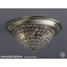 Diyas Paloma Ceiling 2 Light Medium Antique Brass/Crystal