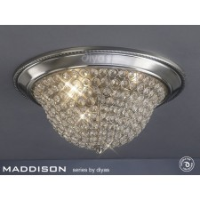 Diyas Paloma Ceiling 2 Light Small Satin Nickel/Crystal