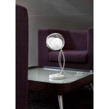 Malindi Table Lamp - White Glass