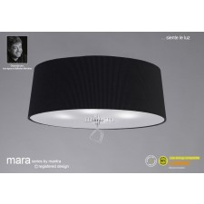 Mara Ceiling 4 Light Polished Chrome/Black