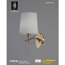 Mara Wall Lamp 1 Light French Gold/Cream Switched