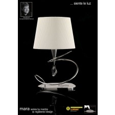 Mara Table Lamp Big 1 Light Polished Chrome/Cream